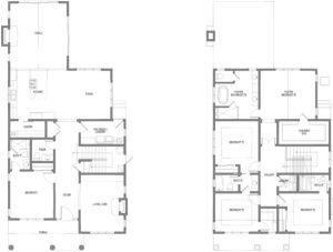 Four Square Floor Plan